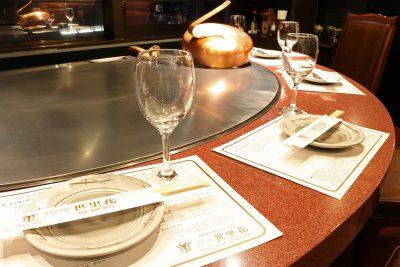 鉄板テーブル