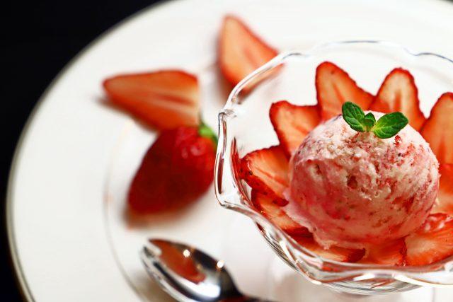 苺のアイス